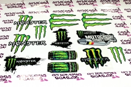 MONSTER set 12x samolepek