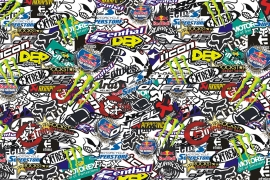 Stickers Bomb Folie Y XXL
