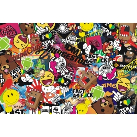 Stickers Bomb Folie W3 (XXL)